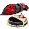 order flowers with cake to dhaka