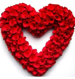 send hundred red roses heart shaped big arrangement to dhaka, bangladesh