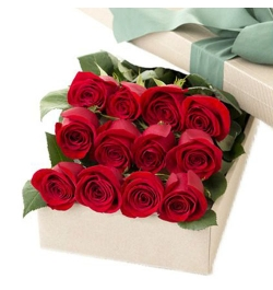 send 12 red roses full box arrangement to dhaka, bangladesh