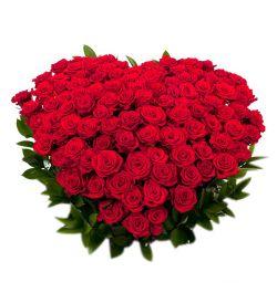 send 50 red roses full heart shaped big box arrangement to dhaka, bangladesh