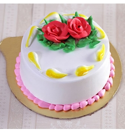 send swiss 2.2 pounds vanilla round cake to dhaka