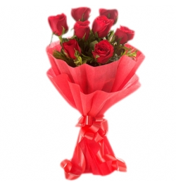send half dozen roses In bouquet to bangladesh