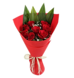 send 8 pcs roses bouquet to dhaka in bangladesh