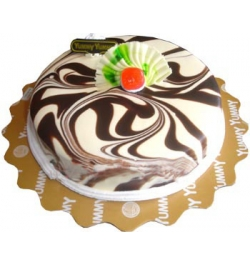 Send Yummy Marble Round Shape Cake to Dhaka Bangladesh