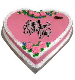 Send 3.3 Pound Heart Shape Cake with Rose Design to Dhaka in Bangladesh
