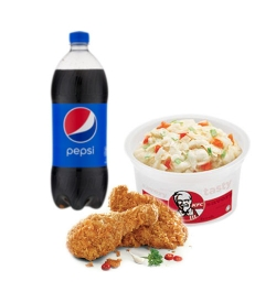 send kfc 2 pcs chicken combo to dhaka