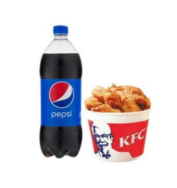 send kfc 8 pcs chicken w 1 liter pepsi to dhaka