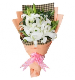 Send 6 White Perfume lilies to Dhaka in Bangladesh