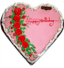 Send heart shape yummy cake to dhaka bangladesh
