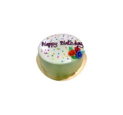 Swiss- 2.2 Pounds Vanilla Round Cake to Dhaka