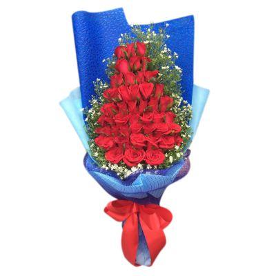 send 3 dozen red roses bouquet to bangladesh