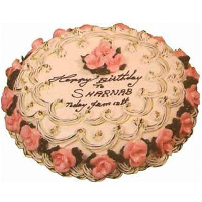 swiss- 3.3 pounds vanilla round cake to dhaka