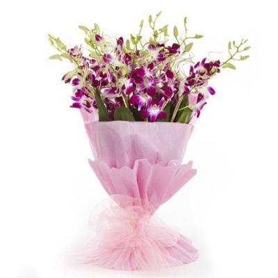 Send 12 Pcs. Pink Orchid in a Bouquet to Bangladesh