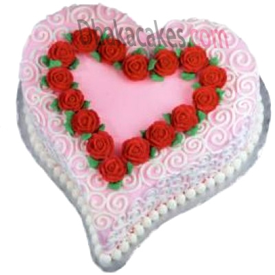 send 4.4 pounds vanilla heart shape cake by coopers to dhaka