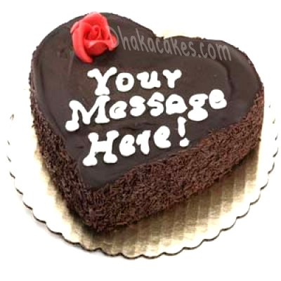 send 4.4 pounds chocolate heart cake by coopers to dhaka