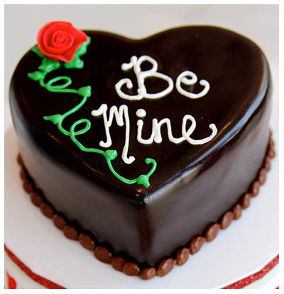 chocolate heart shape cake by swiss cake